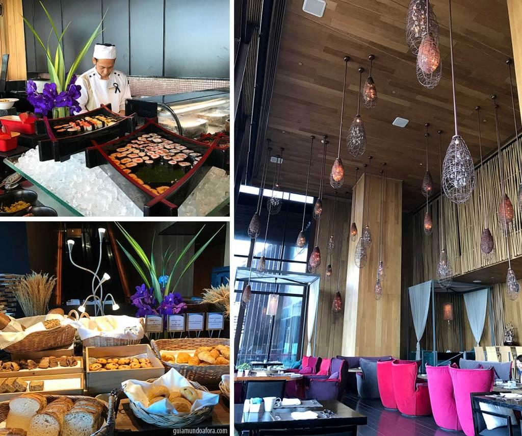 café da manhã do Hotel Hilton Pattaya