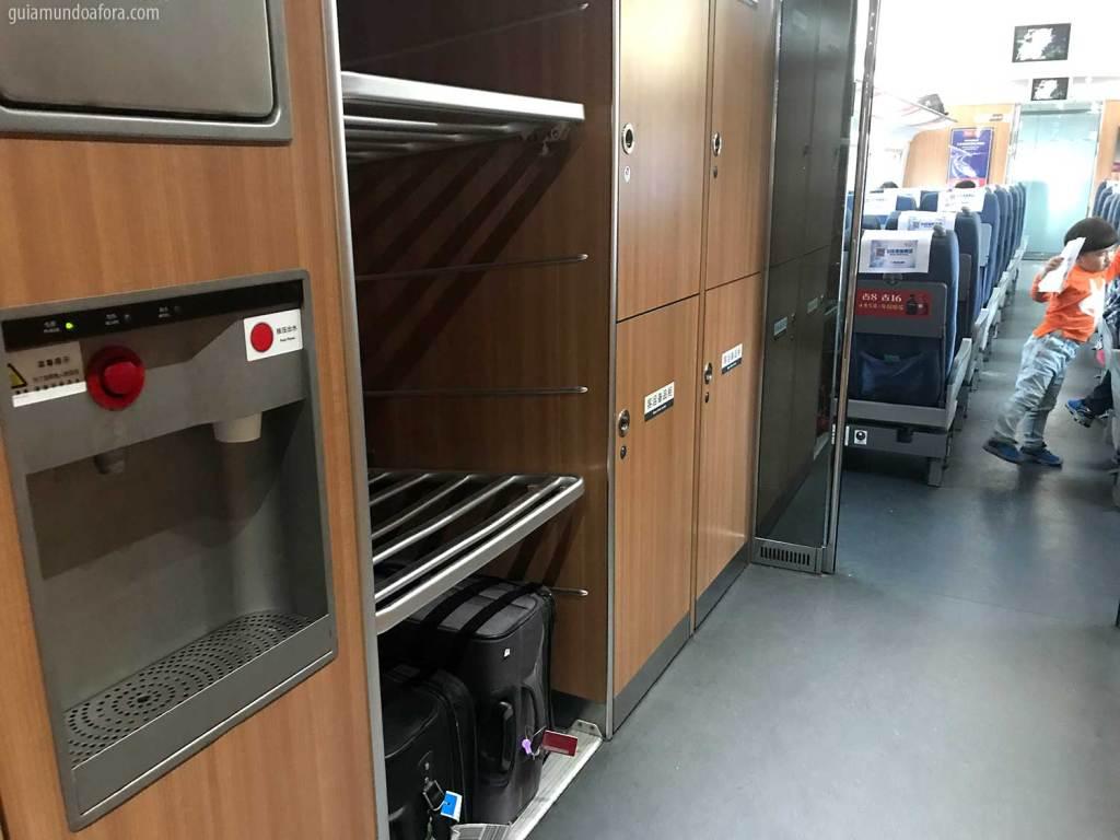 interior de trem na china