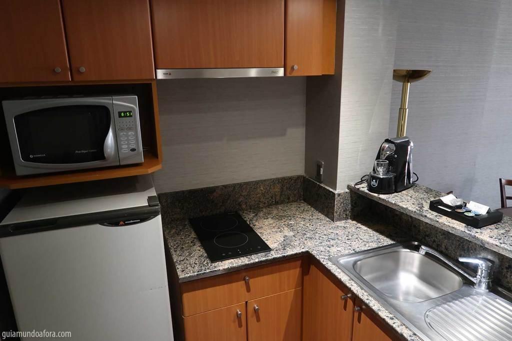 cozinha de hotel em Santiago