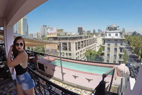 terraço em Santiago