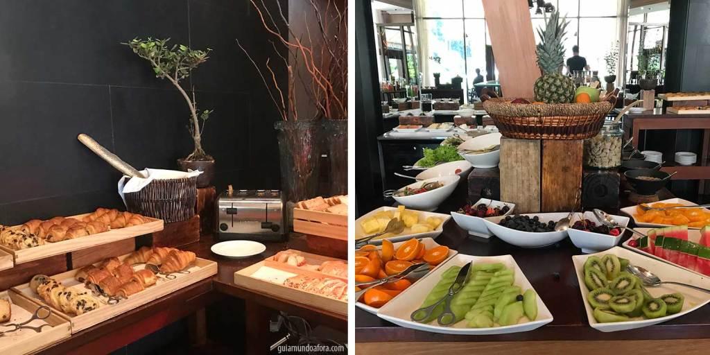 café da manhã hotel em Santiago