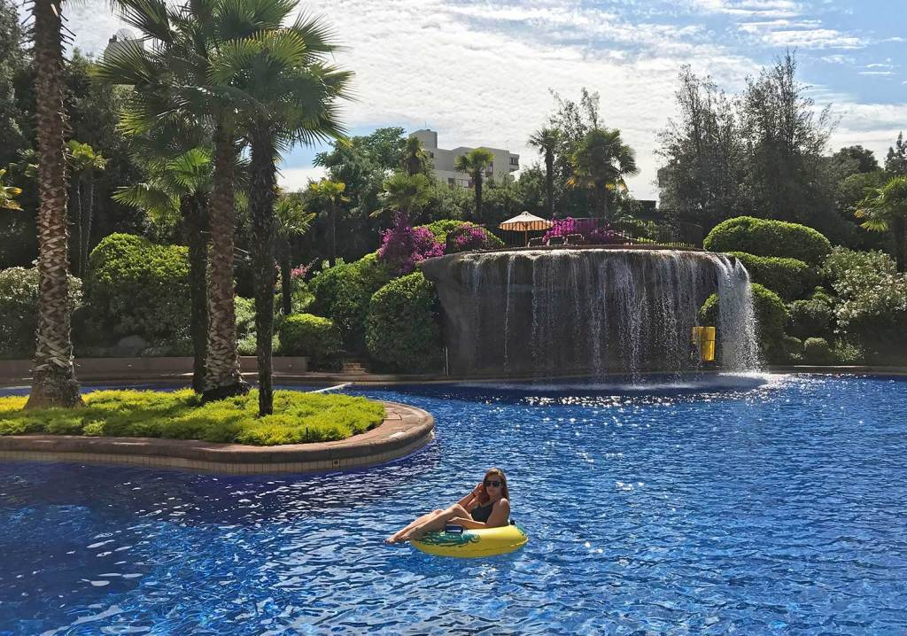 piscina mandarin oriental santiago