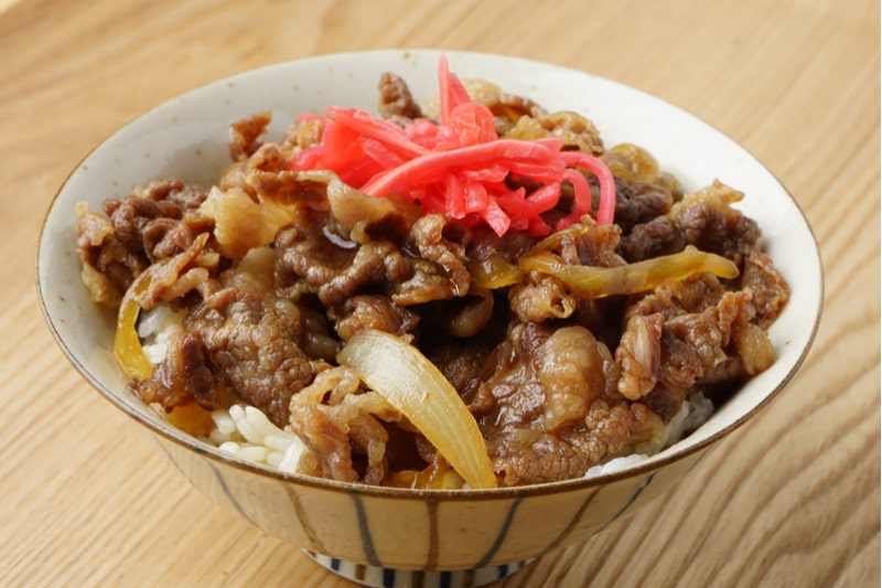 comidas japonesas gyudon