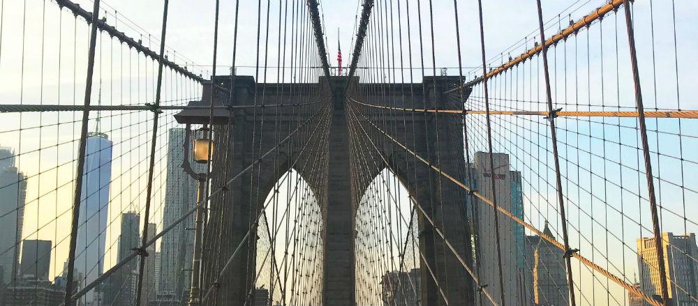Brookly Bridge ao entardecer