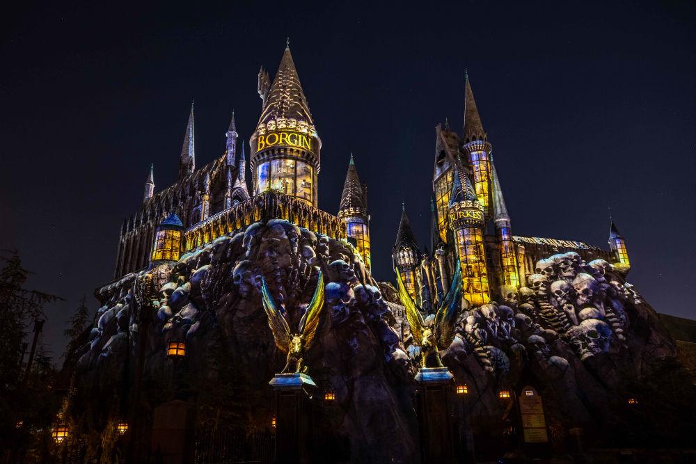 Show de projeções no Castelo de hogawarts