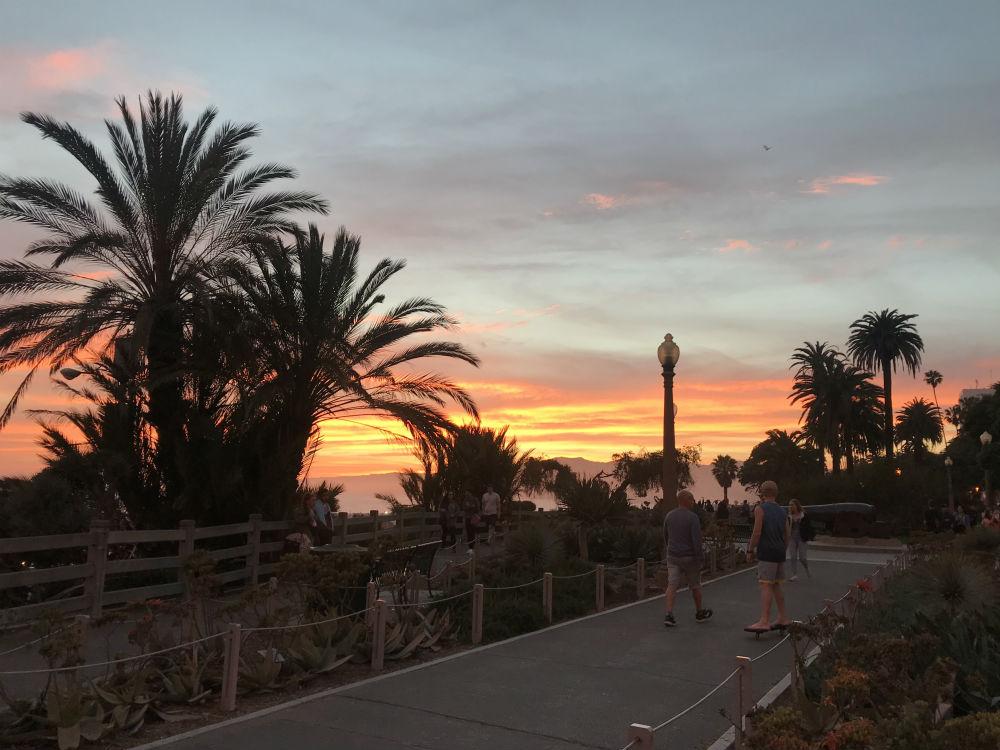 Santa Monica no entardecer