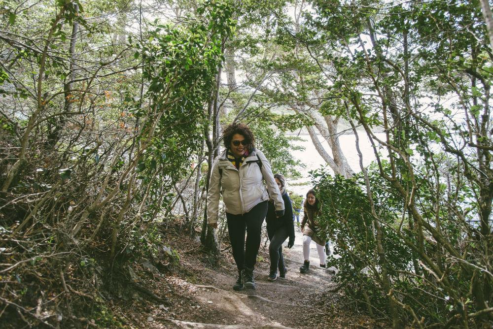 trilha no Parque Nacional Tierra del Fuego