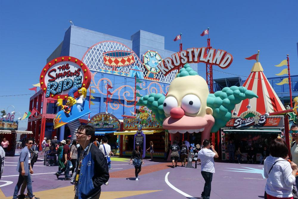 area dos Simpson na Universal da California