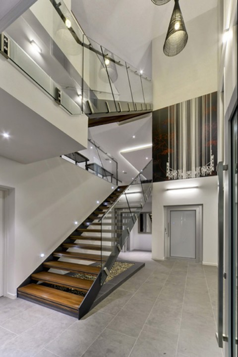 Casas sofisticada moderna y lujosa residencia
