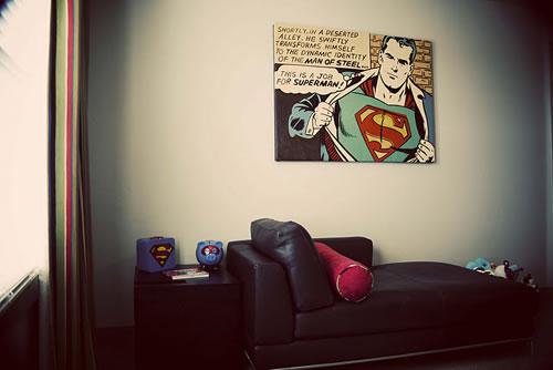 Comics estilo vintage para la habitacin