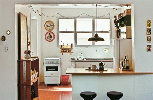 Cocina americana para apartamentos pequeos
