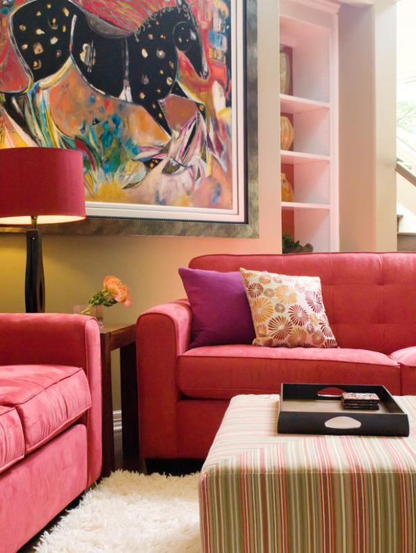 Sala de estar con estilo ingls