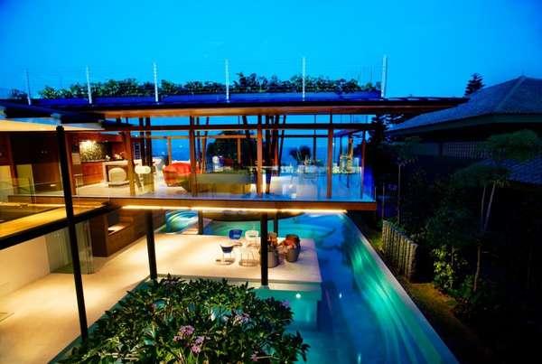Una casa acutica en Singapur