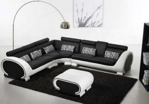 Salones minimalistas en blanco y negro
