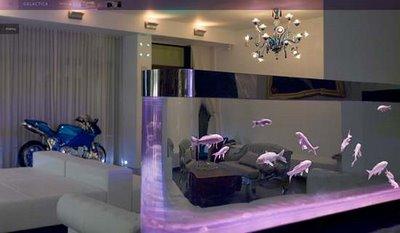 Decoracin de interiores con acuarios