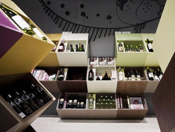 El diseo de las tiendas de vinos
