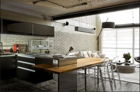 Loft moderno con elementos metlicos