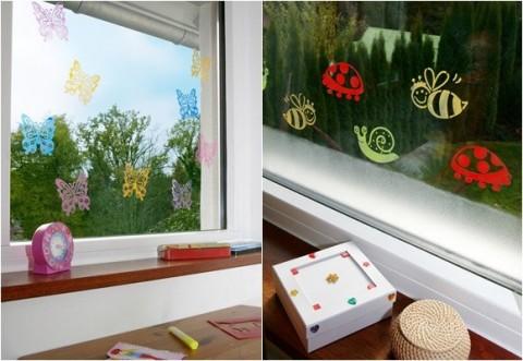 Decora las ventanas con vinilos y pinturas