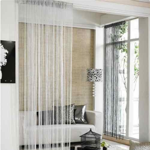 Separacin de ambientes interiores con cortinas