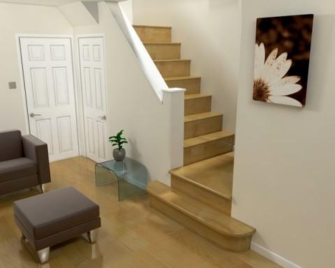 Ideas para espacios modernos junto a escaleras