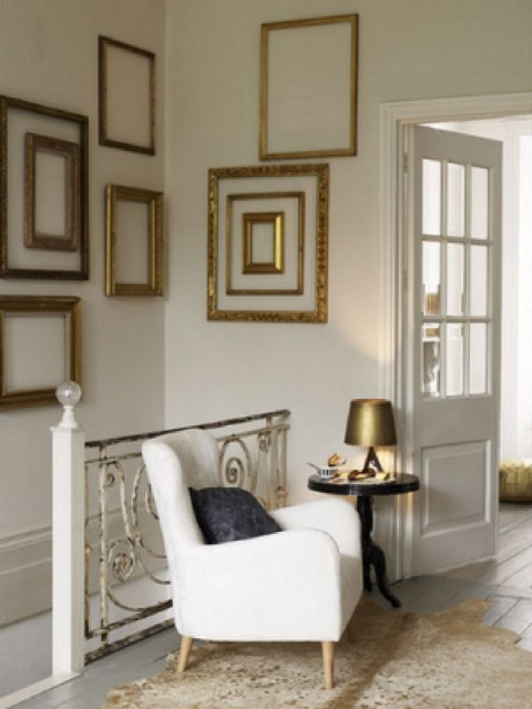 Decoracin de paredes con marcos de fotos