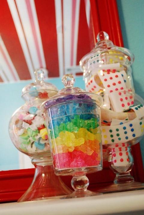 Habitaciones de fantasa decoradas con dulces y caramelos