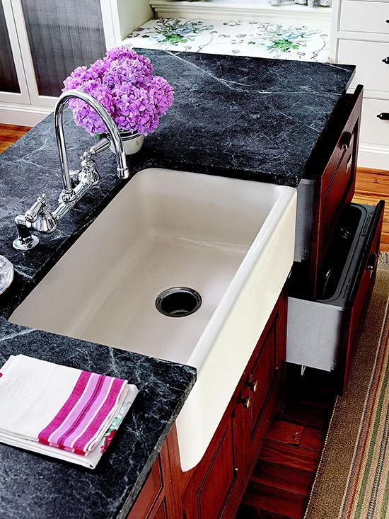 Lavabos para cocinas de estilo cottage