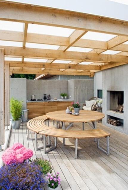 Terrazas y galeras de estilo escandinavo