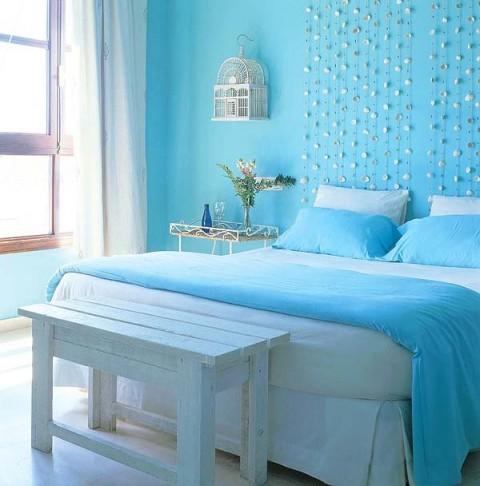 Habitaciones romnticas en color azul