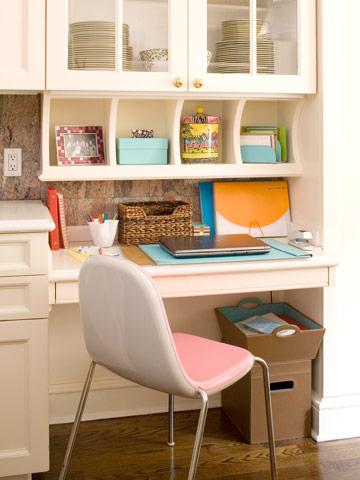 Ideas para crear una oficina en la cocina