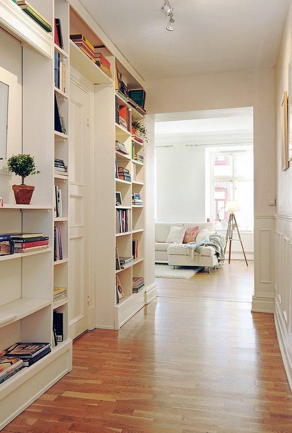 Cmo aprovechar los pasillos de una vivienda
