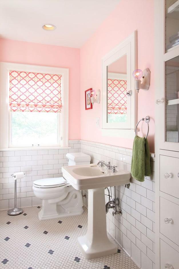 Ideas para tener un bao en color rosa