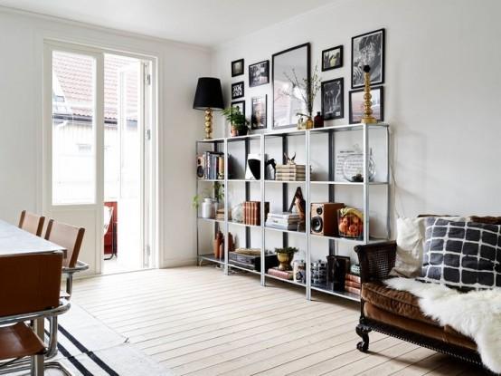 15 ideas para decorar con estanteras metlicas