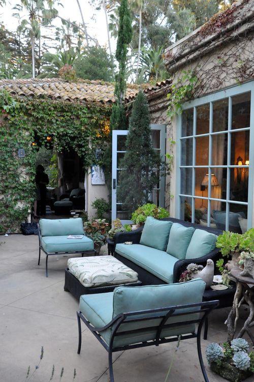 Ideas para decorar tu patio en tonos pastel