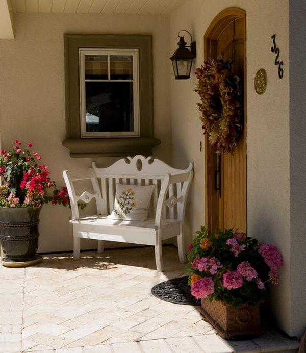 Ideas para decorar la puerta de entrada con plantas y flores
