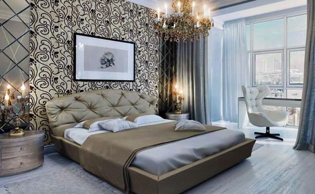 15 modelos de papel mural para la habitacin matrimonial