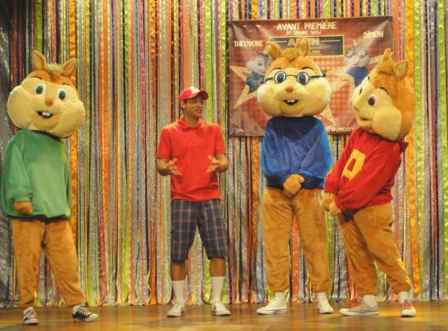 Alvin e os Esquilos no Teatrinho do Pátio Alcântara