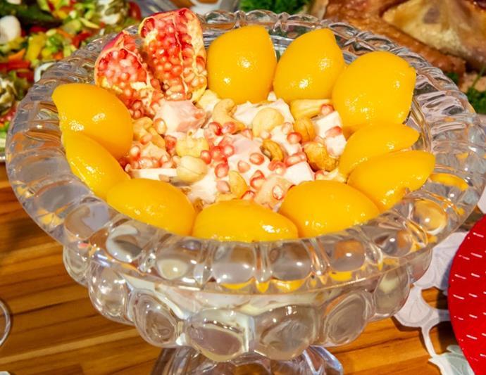 Salada verão com romã para o Réveillon