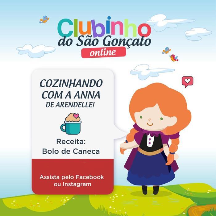 Clubinho de Férias Online do São Gonçalo Shopping ensina receita preferida da princesa Anna de Arendelle