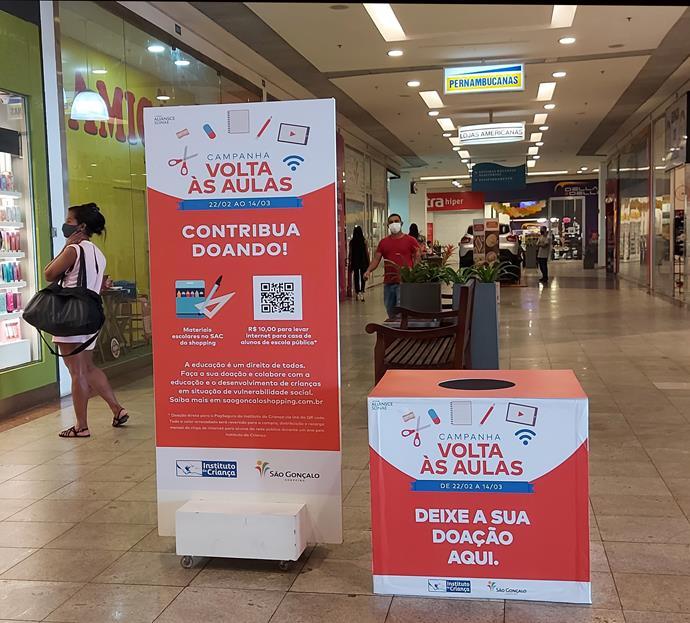 Shoppings da Aliansce Sonae em São Gonçalo realizam campanha para a Volta às Aulas