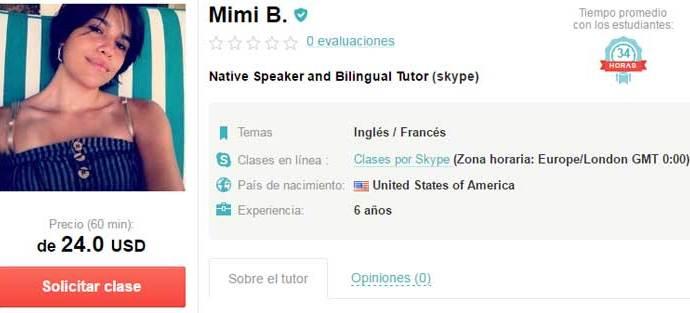 Profesora de inglés online