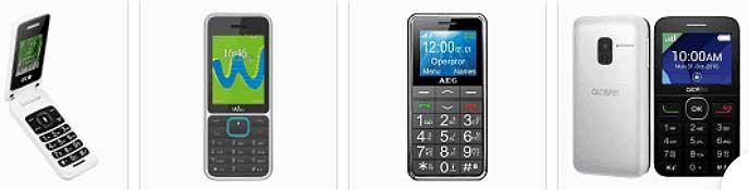 Marcas teléfonos para mayores