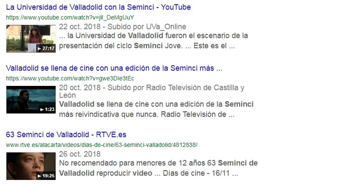 Optimización Google Vídeos Youtube
