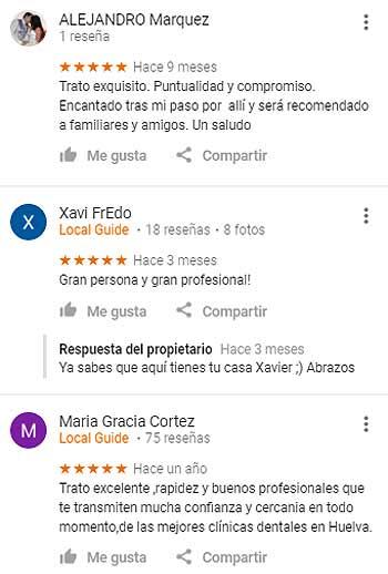 Opiniones Clínica Dental Colchero Cervantes