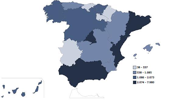Estadística número dentistas Espana