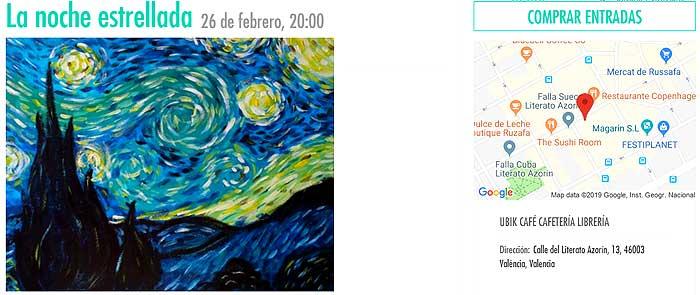 Noche estrellada pintura