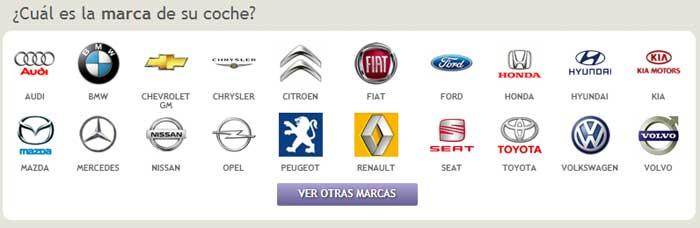 Formulario comparador seguros de coches