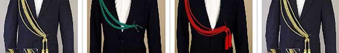 Cordones para uniformes de gala