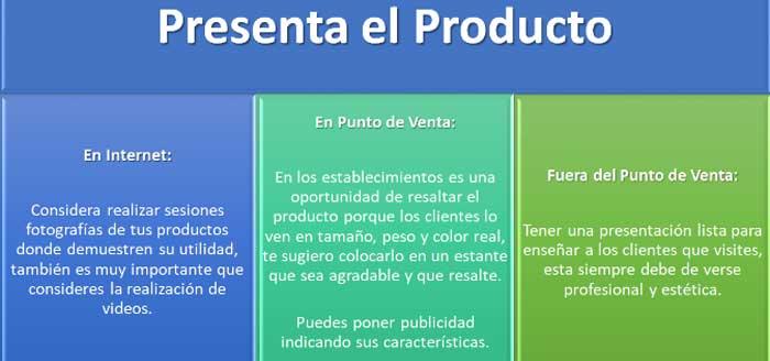 Presenta el producto