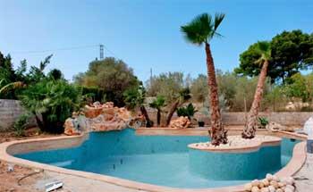 Vaso piscina con Isla